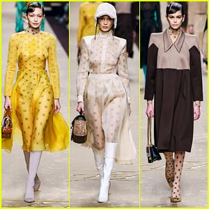 Gigi & Bella Hadid, & Kaia Gerber Slay The Runway During Milan Fashion Week
