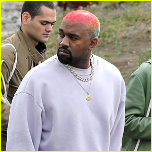 Kanye West Debuts Multi-Color Hair While Heading to His Office!