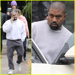 Kanye West Gets Filmed While Leaving His Office!