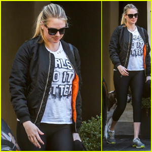 Kate Upton Heads Out With Her Dog After a Morning Workout in LA