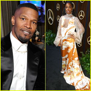 Jamie Foxx & Kelly Rowland Attend Oscars Viewing Party!