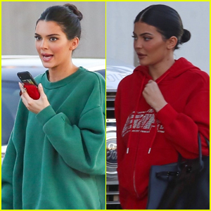 Kendall & Kylie Jenner Arrive for a Photo Shoot in LA