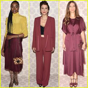 KiKi Layne, Maggie Gyllenhaal & Angela Sarafyan Step Out For 'Kate Spade' NYFW Show