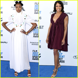 KiKi Layne & Regina King Hit the Blue Carpet at Spirit Awards 2019