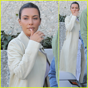 Kim Kardashian Visits Kanye West's Office Before a Road Trip With Khloe Kardashian