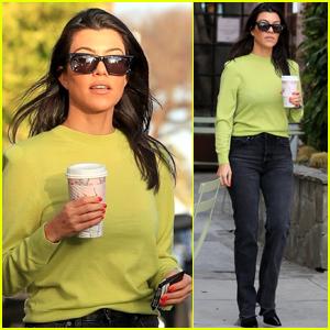 Kourtney Kardashian Goes on Coffee Run in WeHo
