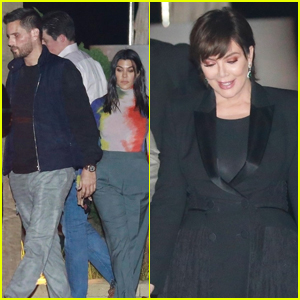 Kourtney Kardashian, Scott Disick, & Kris Jenner Step Out for Jonathan Cheban's Birthday Dinner!