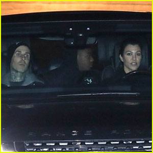 Kourtney Kardashian & Travis Barker Have a Night Out in Malibu