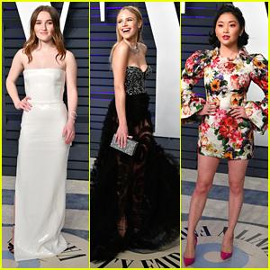 Kaitlyn Dever, Halston Sage & Lana Condor Hit Vanity Fair's Oscar Party In Style
