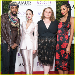Laura Harrier & Danielle Macdonald Buddy Up at 10-Year Anniversary Of RCGD Celebration!