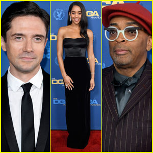 Topher Grace & Laura Harrier Support Spike Lee at DGA Awards 2019