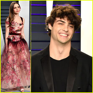 Lily Collins & Noah Centineo Seen Together at Vanity Fair's Oscars 2019 Party!