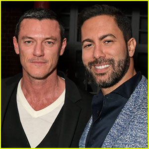 Luke Evans & Victor Turpin Couple Up for Victoria Beckham's Party