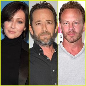 Luke Perry's '90210' Co-Stars Shannen Doherty & Ian Ziering Send Support