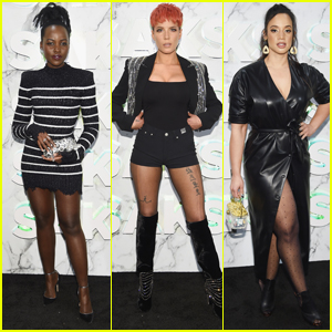 Lupita Nyong'o, Halsey, & Dascha Polanco Step Out for Saks Fifth Avenue's NYFW Party