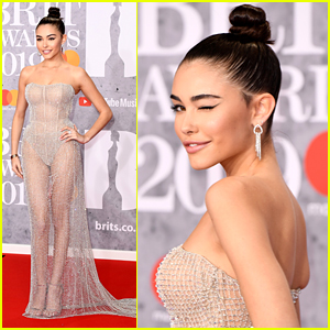 Madison Beer Almost Reveals All In Sheer Dress at BRIT Awards 2019