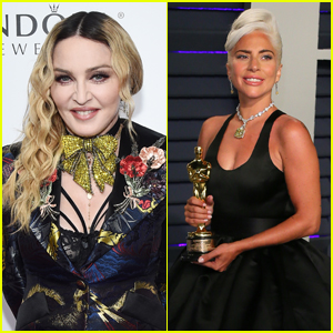 Madonna & Lady Gaga Embrace Each Other at Madonna's Oscars Party!