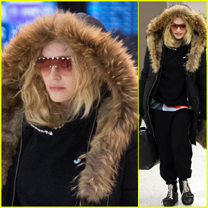 Madonna Bundles Up While Heading to a Flight Out of NYC!