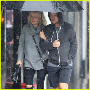 Malin Akerman Braves the L.A. Downpours with Jack Donnelly