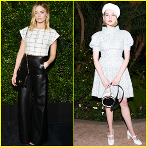 Margot Robbie & Lucy Boynton Stun at Chanel Oscars Pre-Party