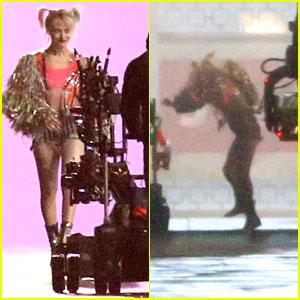 Margot Robbie Spends Another Night Filming Stunts for 'Birds of Prey'