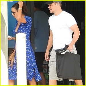Matt Damon & Wife Luciana Stop By Camping Store Near Australia Home