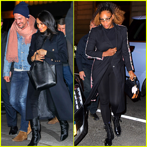 Meghan Markle Gets Dinner with BFFs Serena Williams & Markus Anderson in New York