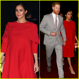 Pregnant Meghan Markle Stuns in Valentino for Morocco Arrival with Prince Harry