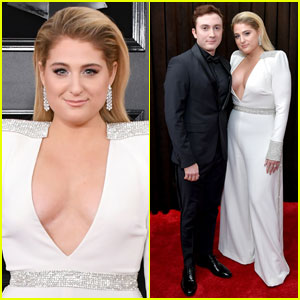 Meghan Trainor & Husband Daryl Sabara Couple Up at Grammys 2019