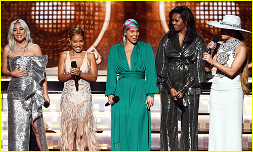 Michelle Obama, Alicia Keys, & More Share Powerful Grammys Moment (Video)