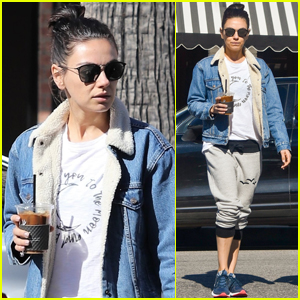 Mila Kunis Goes for Coffee Run in Studio City