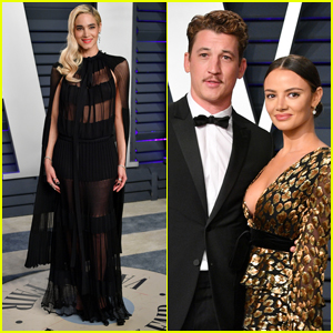 Sofia Boutella, Miles Teller & Keleigh Sperry Strike a Pose at Vanity Fair's Oscars Party