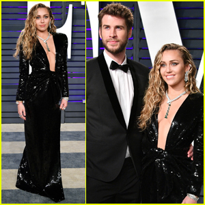Miley Cyrus & Liam Hemsworth Arrive in Style for Vanity Fair's Oscars Party
