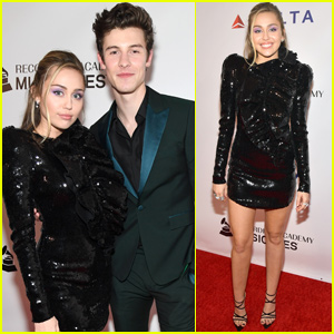 Miley Cyrus & Shawn Mendes Honor Dolly Parton at MusiCares Person of the Year Gala