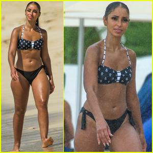 Mya Hits the Beach in a Bikini During Barbados Vacation!