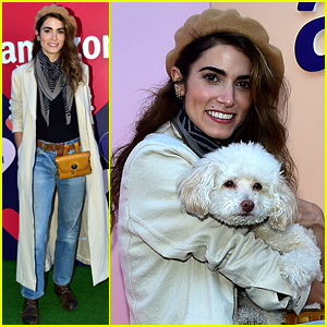 Nikki Reed Supports Rescue Pups at Amazon's Valentine's Pup-Up