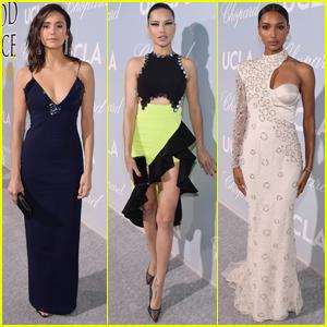 Nina Dobrev, Adriana Lima, & Jasmine Tookes Go Glam for Hollywood for Science Gala 2019