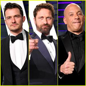 Orlando Bloom, Gerard Butler, & Vin Diesel Look Handsome at Vanity Fair's Oscars 2019 Party