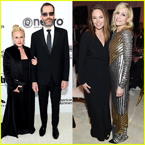 Patricia Arquette, Diane Lane, & Judith Light Watch the Oscars at Elton John's Party