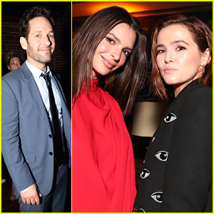 Paul Rudd, Zoey Deutch, & Emily Ratajkowski Attend Day 3 of DIRECTV Lounge