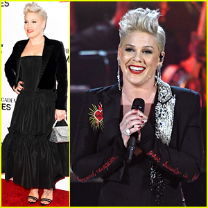 Pink Performs Dolly Parton's 'Jolene' at Pre-Grammys Event!