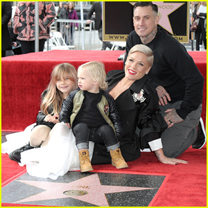 Pink Receives Star on Hollywood Walk of Fame With Her Family!