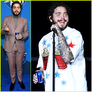 Post Malone Rocks Two Cool Looks at Bud Light's Super Bowl Music Fest!