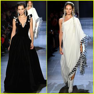 Bella Hadid & Candice Swanepoel Walk in Prabal Gurung's NYFW Show!