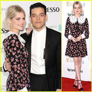 Rami Malek & Lucy Boynton Couple Up at BAFTAs Party & The Photos Are So Cute!