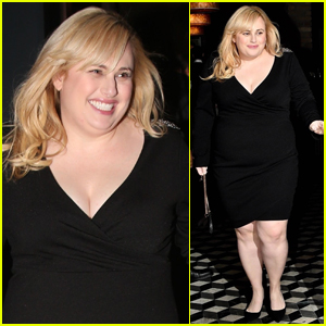 Rebel Wilson Grabs Dinner with Friends at Craig's in WeHo