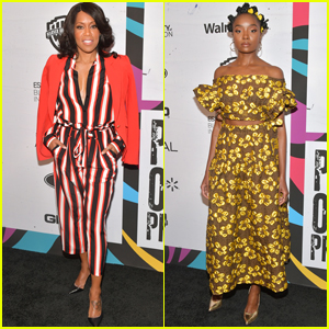 Regina King Reunites with KiKi Layne at Essence's Black Women in Hollywood Luncheon