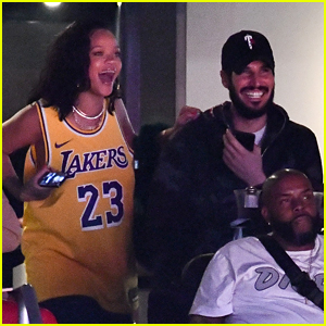 See Photos of Rihanna & Boyfriend Hassan Jameel at the Lakers Game!
