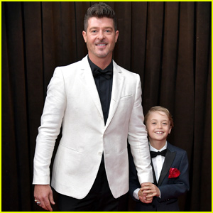 Robin Thicke Brings 8-Year-Old Son Julian to Grammys 2019!