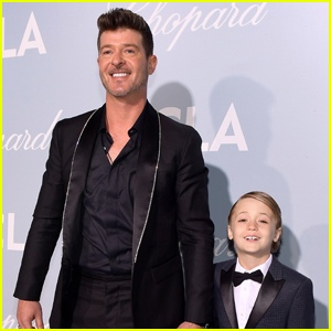 Robin Thicke Brings Son Julian to Hollywood for Science Gala 2019!